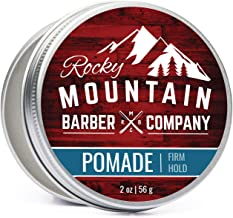 Pomade for Men – 2 oz Size - Classic Styling Product with Strong Firm Hold for Side Part, Pompadour & Slick Back Looks – High Shine & Easy to Wash Out – Water Based