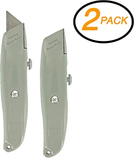 Emraw Multipurpose Utility Knife Retractable Razor Blades Knifes Steel Craft Knife Blades for Art Work Cutting Professional Cut Gloves for Oyster Shucking with (2-Pack)