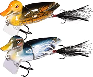 Details about  /1PC Duck Shaped Fishing Baits Silicone Baits Bass Fishing Lures Tool Accessories