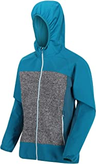 Regatta Women's Women's GARN Hooded Softshell Jacket - Ultra-Stretchy and Windproof - Soft Shell - Ocean Depth/Ash, FR: S ...