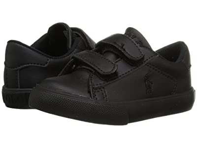 Polo Ralph Lauren Kids Easten EZ (Toddler) (Triple Black Tumbled) Kid