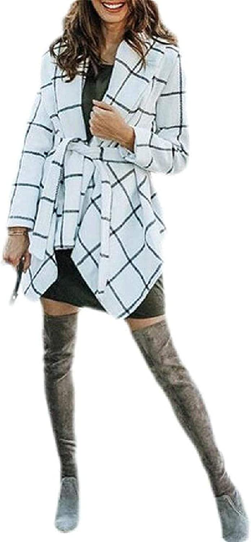 Women Plaid Cardigan Basic Lace Up Long unisex Shirt Blouse Ranking TOP7 Sleeve Tops