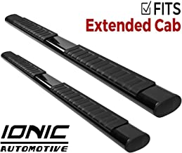 Ionic Voyager Plus Black Running Boards 1999-2006 Chevy Silverado GMC Sierra Extended Cab