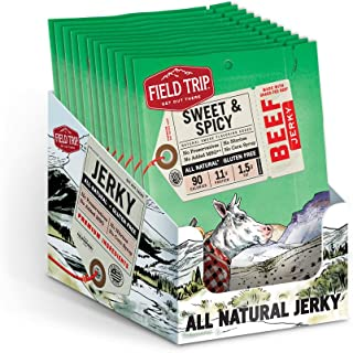 Field Trip  Gluten Free, High Protein, Sweet & Spicy Barbeque Beef Jerky, 1oz Bag, 12 Count