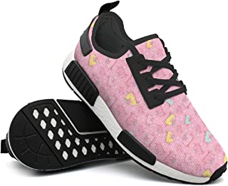 Fashion Sneakers Shoes For Men Pink Unicorn Ice Cream Simple Lightweight Breathable Mesh Mens Tennis Shoes