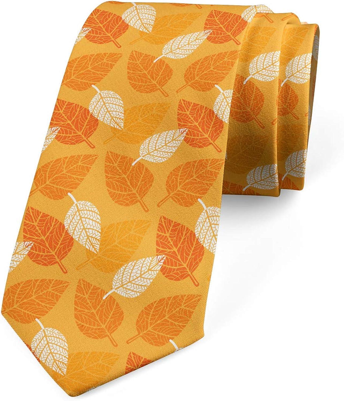 Ambesonne Necktie, Foliage Nature Theme, Dress Tie, 3.7