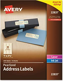 Avery Pearlized Address Labels 1