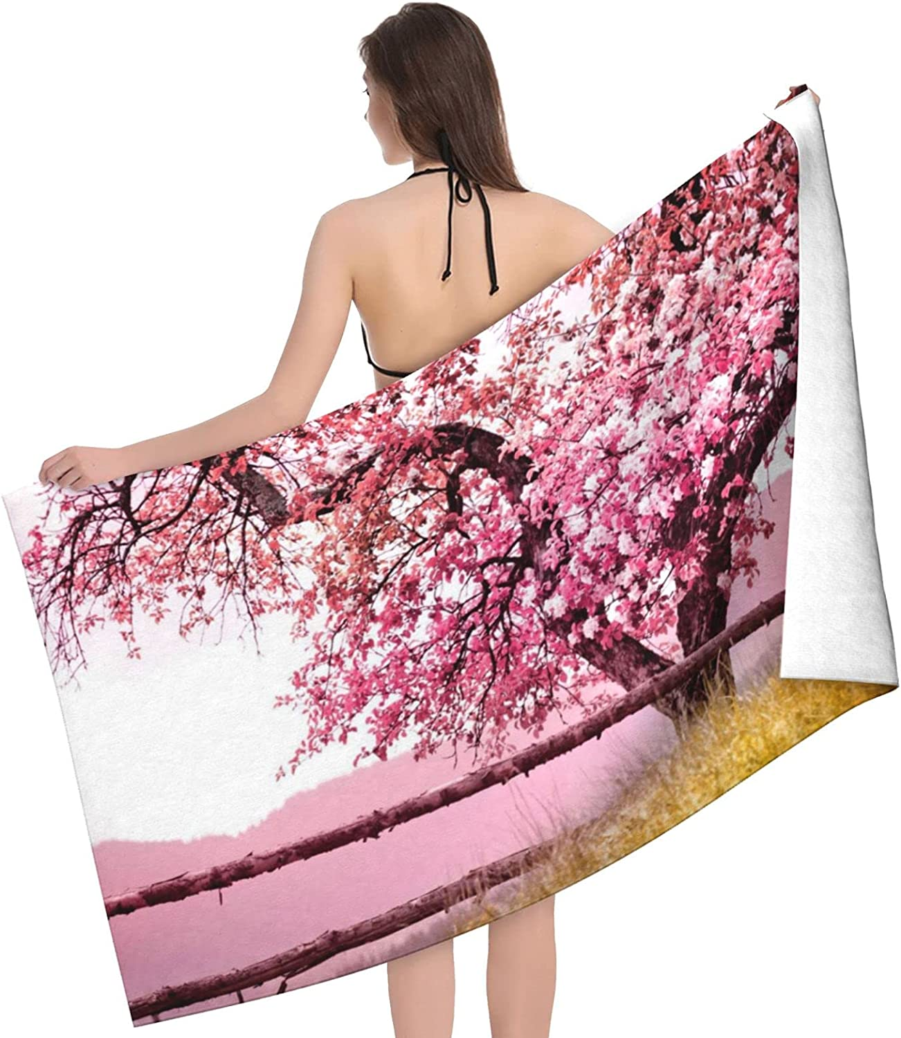 Plum Tree Blossom Print Adult Double Popular Towel Towels - Beach SEAL limited product