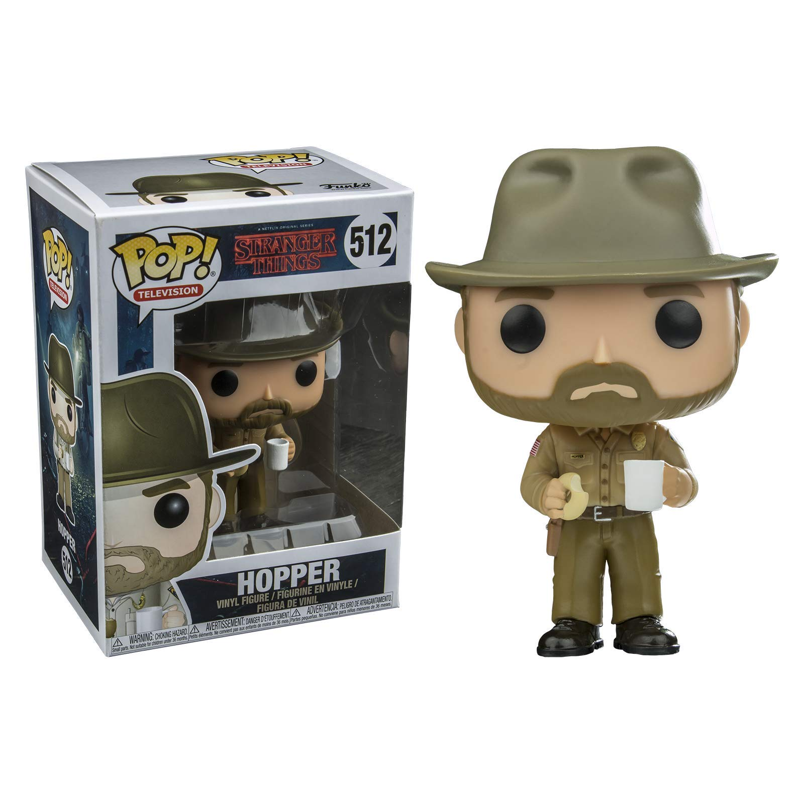 Stranger Things-Funko POP Hopper with Donut Figura de vinilo, multicolor 14425 , color/modelo surtido: Amazon.es: Juguetes y juegos