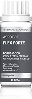 ASPOLVIT – Flex Forte Suplemento con ácido hialurónico. vitaminas y glucosamina para mantener la flexibilidad y fortalecer las articulaciones – 60 cápsulas