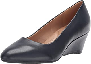 Women's Inner Circle Heel - Leather Pointed Toe Dress Pump with Memory Foam Footbed