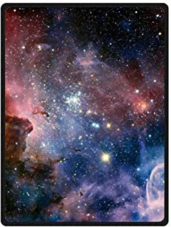 QH with Galaxy pattern2 Velvet Plush Throw Blanket(Large) Super Soft and Cozy Fleece Blanket Perfect for Couch Sofa or Bed