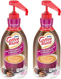 Nestle Coffee Mate Coffee Creamer, Salted Caramel Chocolate, Concentrated Liquid Pump Bottle, Non Dairy, No Refrigeration,...