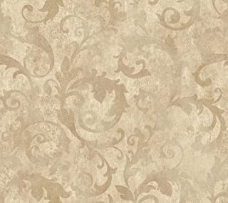 Décor Direct YWTD4718 Wallpaper, Double Roll Dimensions: 27 in. x 27 Ft. = 60.75 sq.ft, Pale Silvery Blue, White, Grey, Beige
