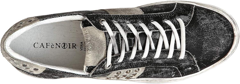 CAF black PC132 Black shoes Men Sneakers Leather Laces Studs