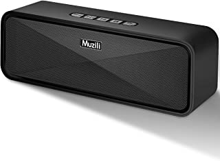 Muzili Portable Bluetooth Speaker with High Quality,Exclusive BassUp,10-Watts,8-Hours playtime, Built-In Dual Driver Speakerphone, Handsfree Calling,Perfect Wireless Speaker for Home,Bedroom, Kitchen,Outdoors,Travel