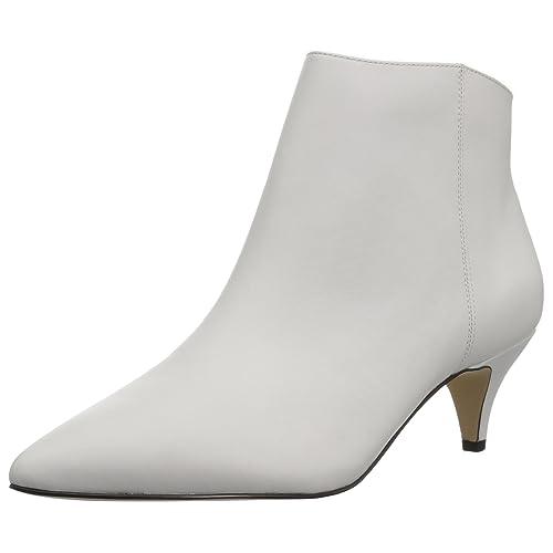 c879400627b26 White Kitten Heel Boots: Amazon.com