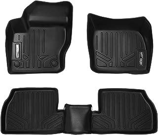 MAXLINER Floor Mats 2 Row Liner Set Black for 2012-2018 Ford Focus (No RS Models)