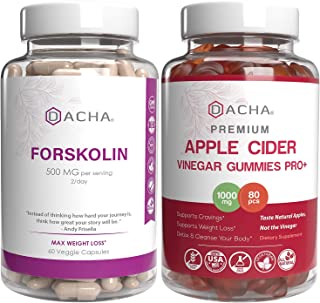 Max Weight Loss & Immune Support Bundle - Forskolin & Apple Cider Vinegar Gummies, Antioxidant Packed, Ultra Strength Deto...