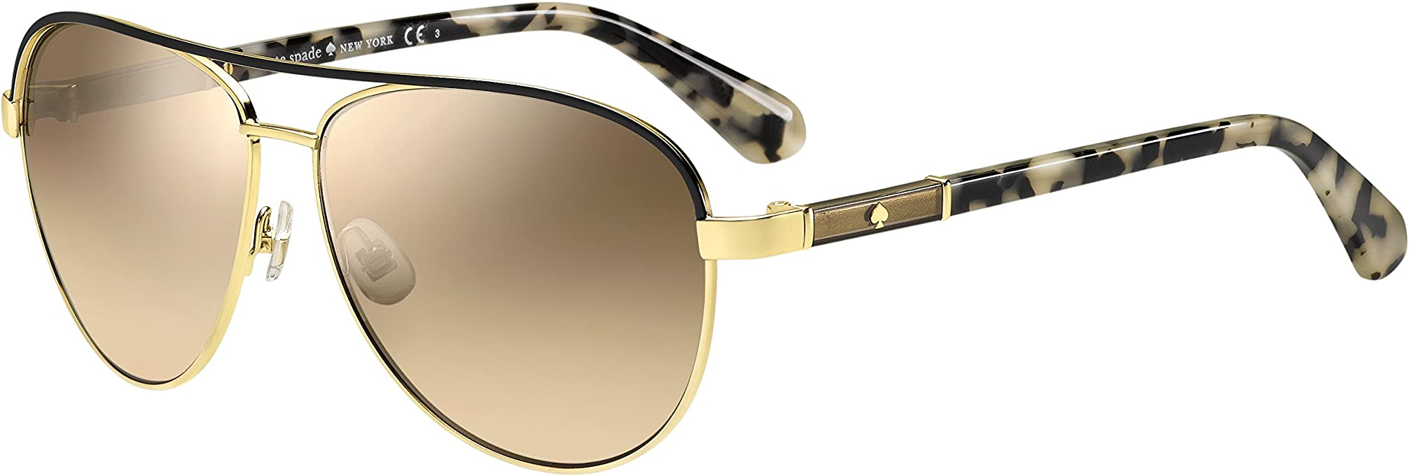 Kate Spade EMILYANNS Aviator 59 mm Sunglasses