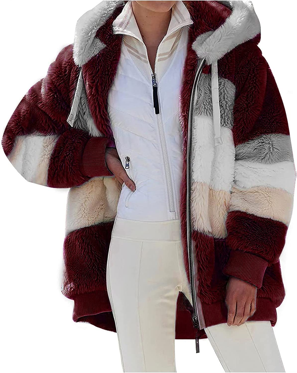 Fleece OFFicial shop Coat for Women Casual Trendy Special price for a limited time Hoodies Color Winter Novelty