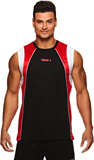 AND1 Men's Basketball Muscle Tank Top - Sleeveless Workout & Training Activewear Gym Shirt