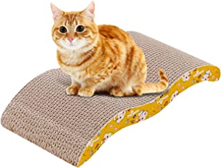 Mumoo Bear Cat Scratcher, 2 in 1 Cat Scratching Pad Post Bed Lounge Durable Both Sides Available Cardboard with Catnip for...