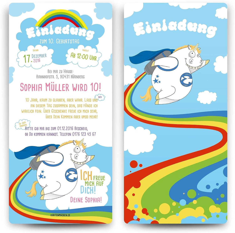 Einladungskarten Kinder Geburtstag Geburtstag Geburtstag (40 Stück) - Raketen Einhorn - Einladung Karten B01L08H404  | Hohe Sicherheit  d1e78d