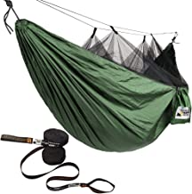 Adventure Gear Outfitter Hammock with Mosquito Net and Free Tree Straps. Lightweight and Strong Ripstop Nylon Perfect for Camping, Backpacking, and Hiking - Includes for Easy Set UP
