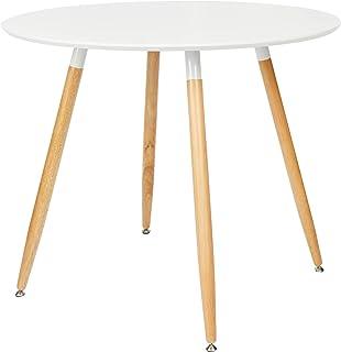 Relaxdays Okrągły stół do jadalni ARVID, drewno, wys. x
