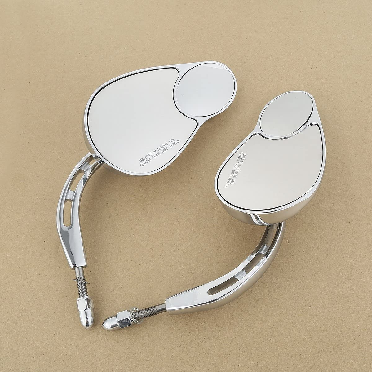 TCT-MT 8mm Rear View Mirrors Split Vision For Mirror All items free shipping Fit Harley Large discharge sale