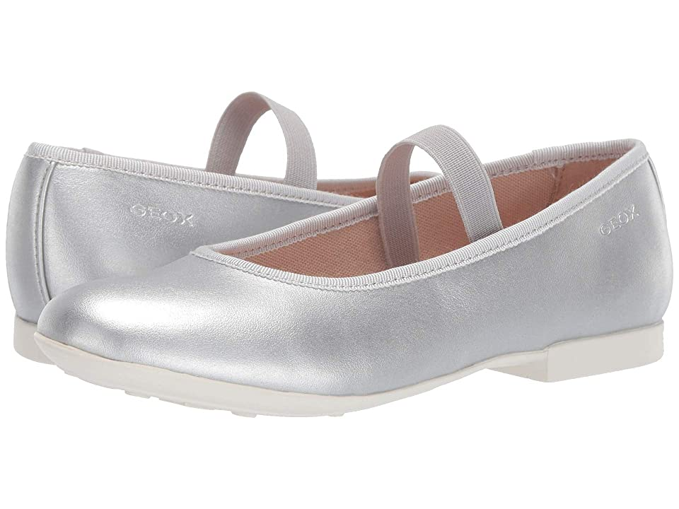 Geox Kids Plie Girl 53 (Little Kid/Big Kid) (Silver) Girl