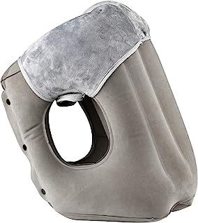 Simptech 抱き枕 ネックピロー 飛行機 まくら エアーピロー 旅行便利グッズ トラベルグッズ 腰枕 旅行枕 携帯枕 特許大型エアーバルブ HAIYANLE (グレー)