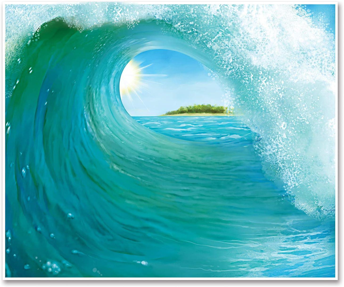 Hawaii Shield Bar Little Tavern Wall Border 100 cm x 25 Surf Board South Sea