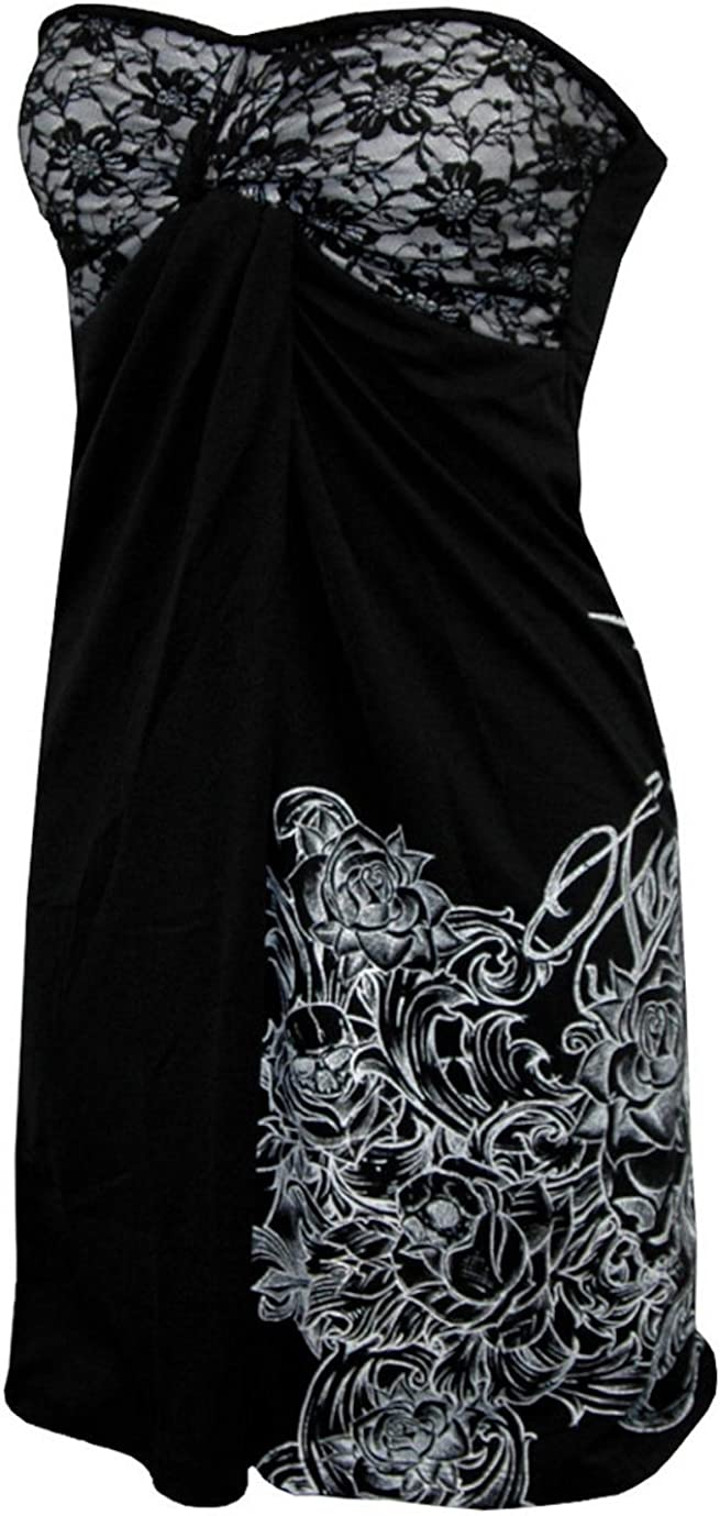 FEARLESS Cannon Tube Top Dress Black