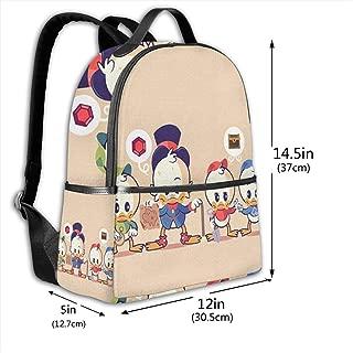 Classic School Backpack Cute Donald Duck Unisex College Schoolbag Travel Bookbag Black