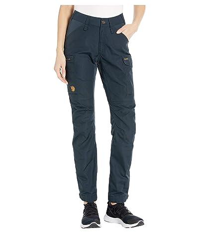 Fjallraven Kaipak Trousers Curved (Dark Navy) Women