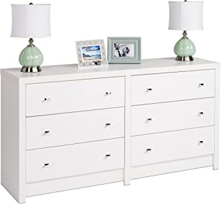 Prepac Calla 6-Drawer Dresser, White