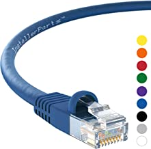 InstallerParts (10 Pack) Ethernet Cable CAT5E Cable UTP Booted 1 FT - Blue - Professional Series - 1Gigabit/Sec Network/Internet Cable, 350MHZ