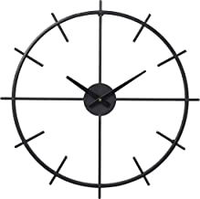 Modern Wall Clocks for Living Room Decor, Battery Operated Large Decorative Black Clock for Kitchen Bedroom Office, 21 Inc...