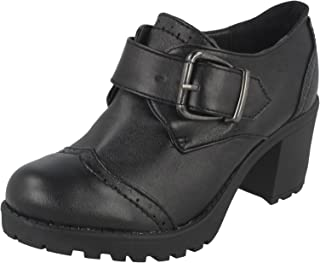 Girls Red Tag Chunky Formal Heeled /'Shoes/'