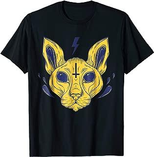 Lucipurr Satan Egyptian Cat With Upside Down Cross Shirt