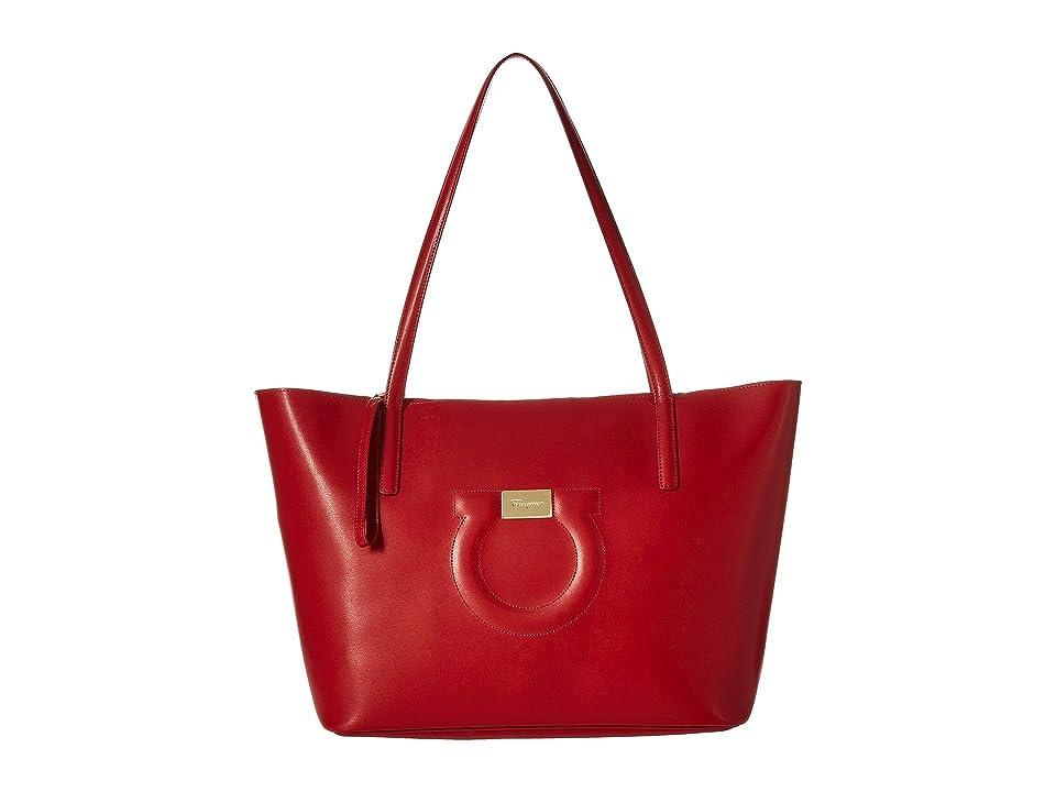 b459b948f3 Salvatore Ferragamo 21H019 City Tote (Lipstick) Tote Handbags