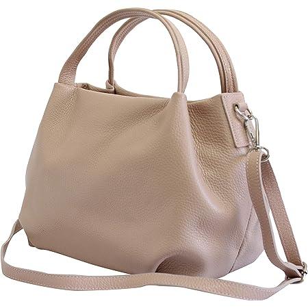 AmbraModa Damen handtasche Henkeltasche Schultertasche aus Echtleder GL023
