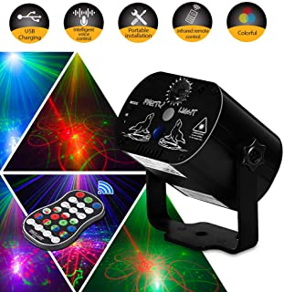 Party Light LED Disco Lights Innoo Tech Laser Lights Stage Lighting Projector Sound Activated Flash Strobe Light Remote Control Parties Home Show Bar Club Birthday KTV DJ Pub Karaoke Christmas Holiday