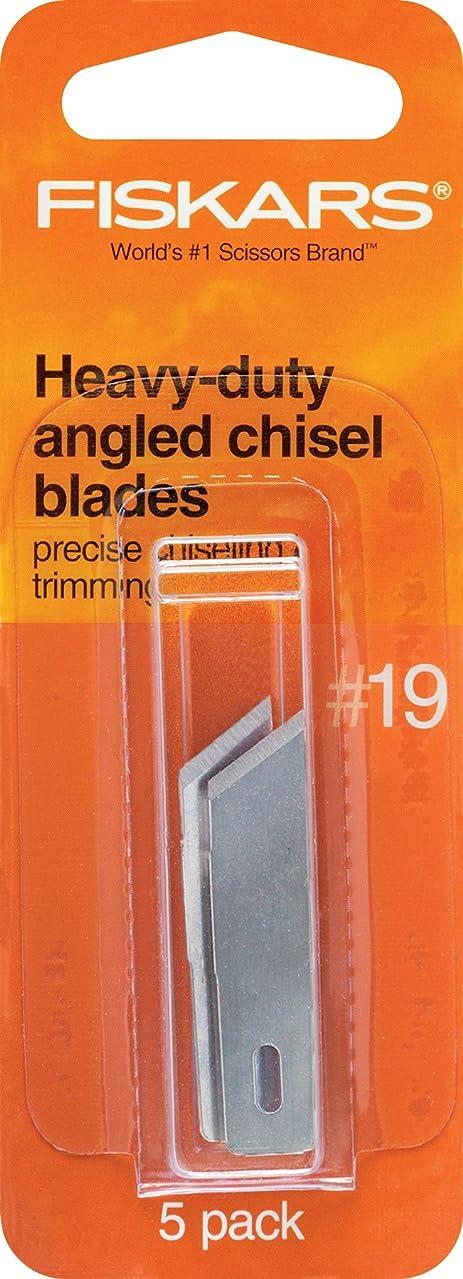 Fiskars 164150-1001 Heavy-Duty Number 19 Angle Chisel Blade, 5 Pack