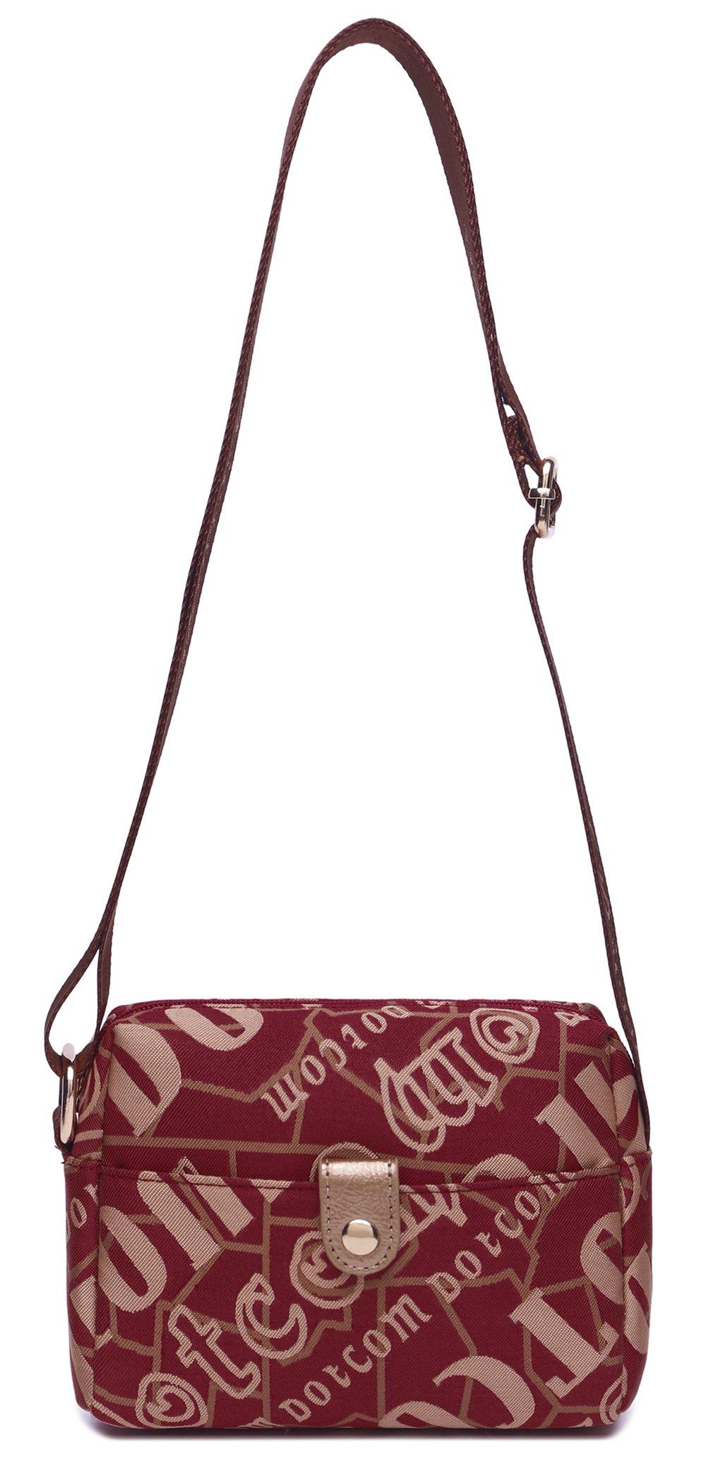 馬場馬術2016新しいトレンドファッションバックパックキャンバスバッグ小さな斜めの女性のバッグ153(小、赤)