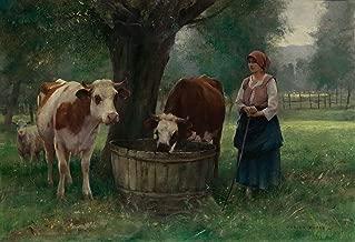 Julien Dupre Young Woman Watering Cattle 1885 Museum of Fine Arts - Boston 30