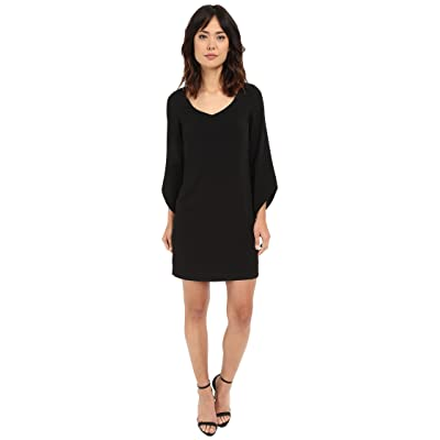 Laundry by Shelli Segal Crepe T-Body with 3/4 Tulip Sleeve (Black) Women
