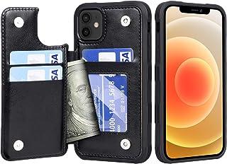 Migeec Funda para iPhone 12 / iPhone 12 Pro - Funda Tipo Cartera con Bolsillos para Tarjetero [a Prueba de Golpes] Funda c...
